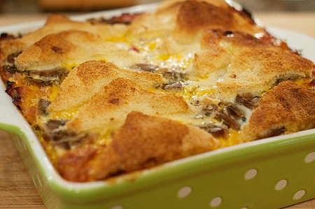 Ham and Cheese Strata