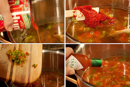 Add tomatoes to Vegetable Chili