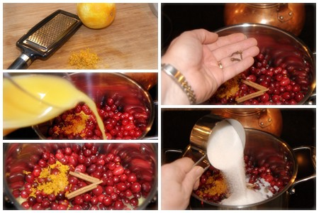 Combine all ingredients for Cranberry Orange Relish