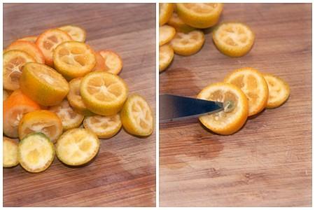 Deseeding kumquats
