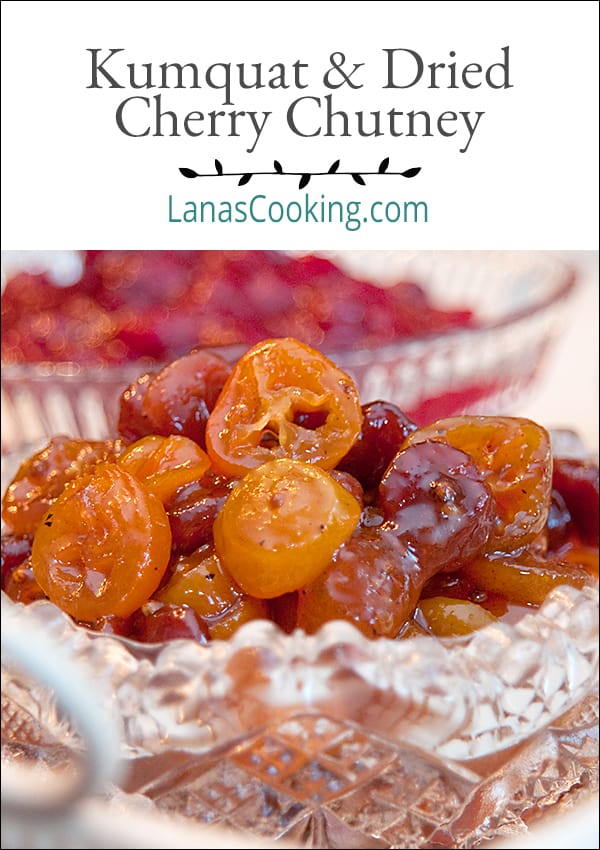 Two fantastic accompaniments for your Thanksgiving dinner: Kumquat Dried Cherry Chutney and Cranberry Orange Relish. From @NevrEnoughThyme https://www.lanascooking.com/two-thanksgiving-relishes-kumquat-dried-cherry-chutney-and-cranberry-orange-relish/
