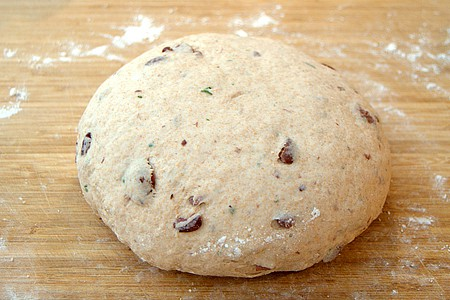 Dough after kneading for 10 minutes.