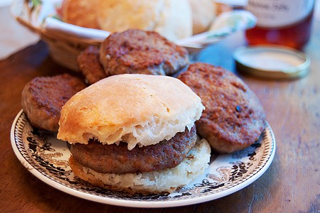 Spicy Breakfast Sausage and Biscuits