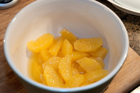 Orange sections in a bowl.
