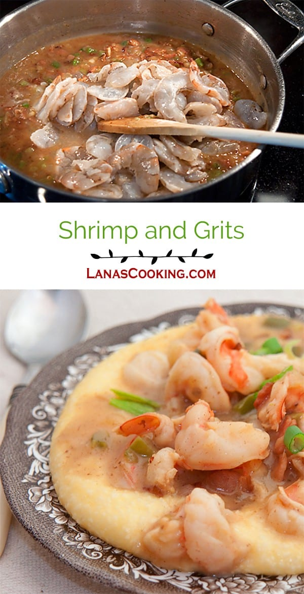 Shrimp and Grits - Sauteed shrimp with bacon, garlic and green onion ...