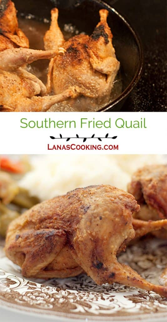 Southern Fried Quail - A southern delicacy straight out of my childhood - simply seasoned, deep fried quail. From @NevrEnoughThyme https://www.lanascooking.com/southern-fried-quail/