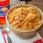 Brunswick Stew - a classic Southern barbecue side dish combining meat and a variety of vegetables. From @NevrEnoughThyme http://www.lanascooking.com/brunswick-stew
