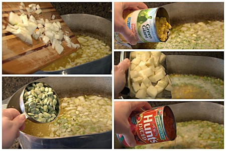 Add finishing ingredients to Brunswick Stew