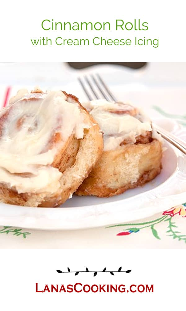 Cinnamon Rolls with Cream Cheese Icing from Never Enough Thyme