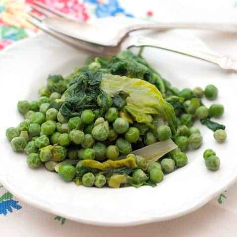 Peas with Lettuce