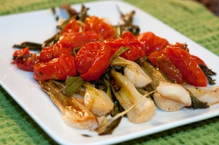 Post image for Roasted Baby Vidalia Onions and Cherry Tomatoes