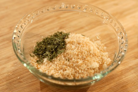 Herb topping for Tomatoes Provencal