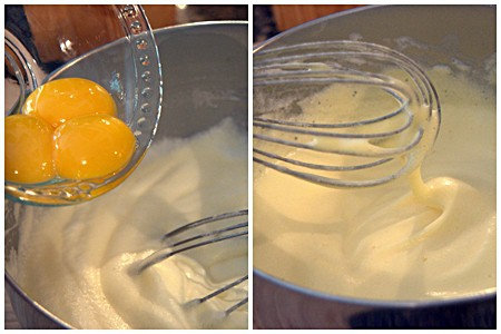 Adding egg yolks to Angel Cake