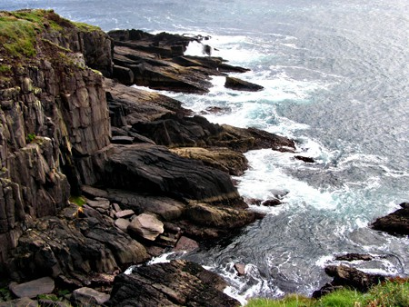 The rugged Irish coast