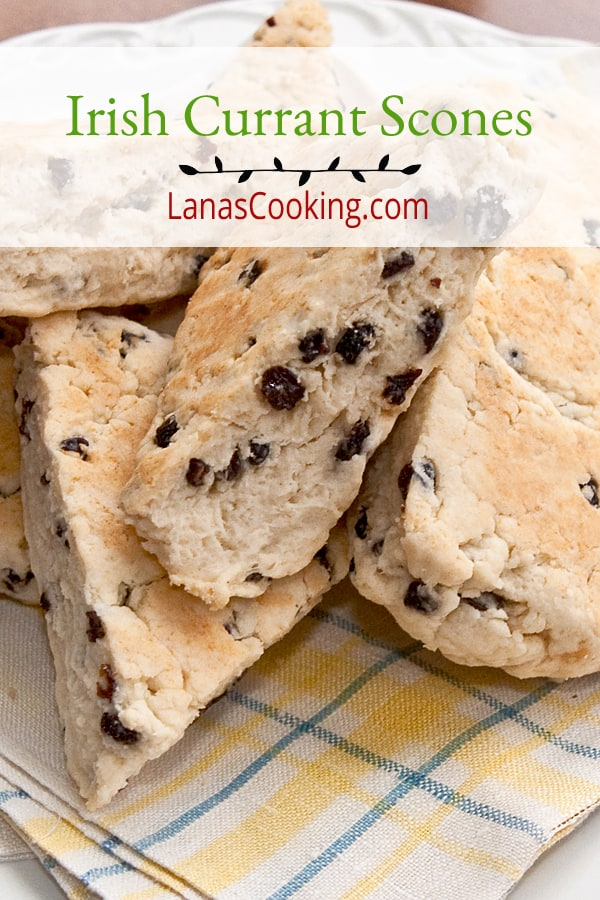 A traditional recipe for Irish cream scones with dried currants. Scones are quite similar to southern style biscuits and are made fresh daily in many homes. From @NevrEnoughThyme https://www.lanascooking.com/irish-currant-scones/