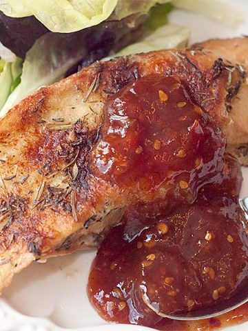 You'll love this Savory French Toast recipe featuring Herbes de Provence and served with a homemade sweet and spicy tomato jam. https://www.lanascooking.com/savory-french-toast/