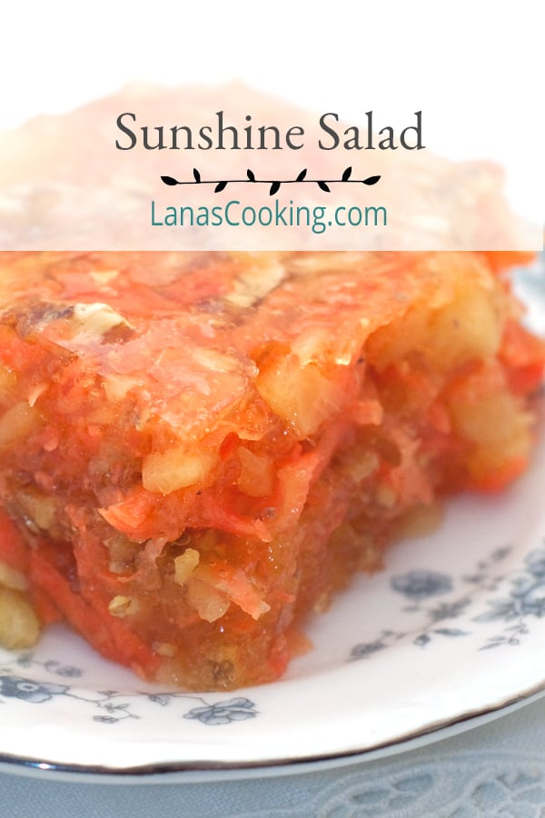Sunshine Salad (Jello Salad) from Never Enough Thyme