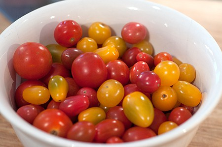 Cherry tomatoes for making Tomato Jam