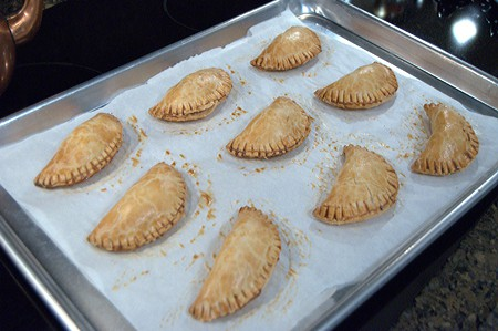 Baked Apple Pies out of the oven