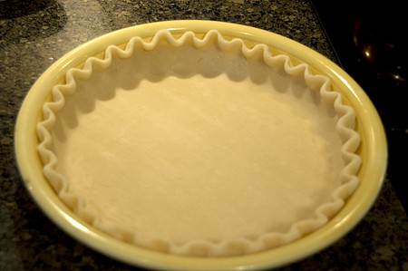 Pie crust with fluted edges