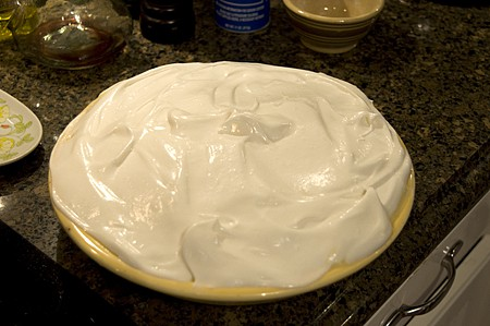 Top with meringue