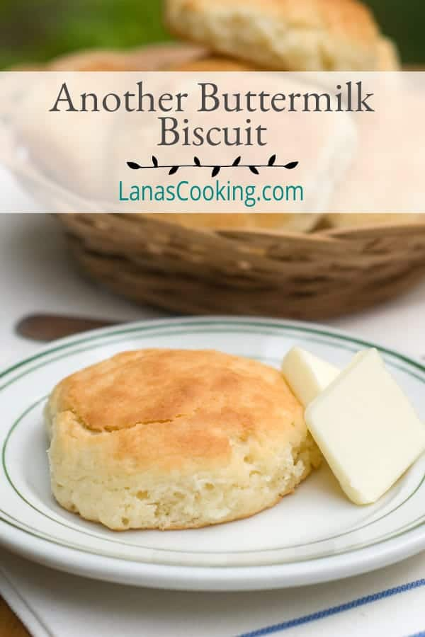 Another Buttermilk Biscuit - These are the buttermilk biscuits I remember from childhood. They're moist and substantial and totally delicious. https://www.lanascooking.com/another-buttermilk-biscuit/