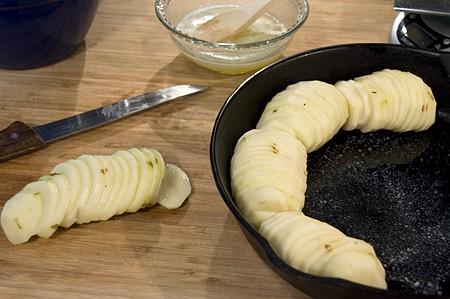 Crispy Roasted Potatoes assembly