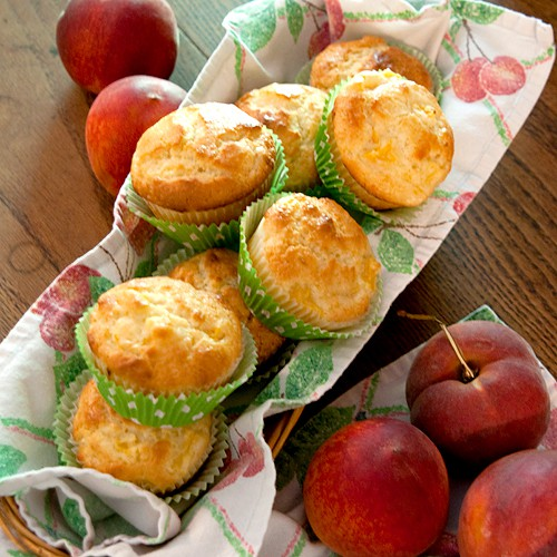 Peaches and Cream Muffins {Secret Recipe Club}