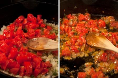 Add chopped tomatoes
