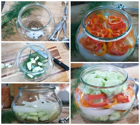 Packing refrigerator pickles