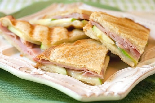 Ham Apple and Brie Panini