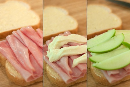 Constructing Ham, Apple and Brie Panini