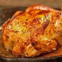 Butter Roasted Chicken - Roasted chicken seasoned with fresh herbs and lemon, basted with butter for a crispy golden brown skin From @NevrEnoughThyme https://www.lanascooking.com/butter-roasted-chicken/