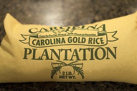 A bag of Carolina Gold Rice.