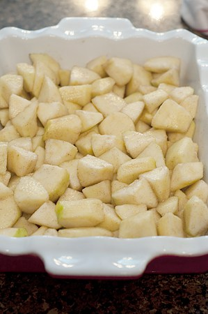 Preparing Apple Patchwork Cobbler