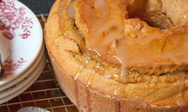 Glazed Pumpkin Pound Cake