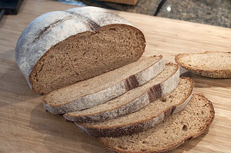 Whole grain bread for Banana-Maple French toast