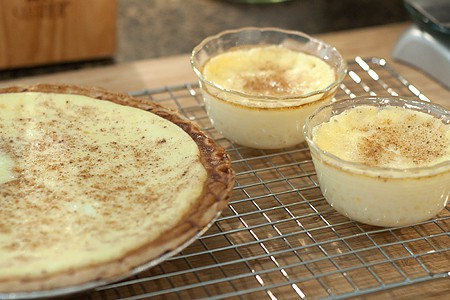 Egg Custard Pie cooling