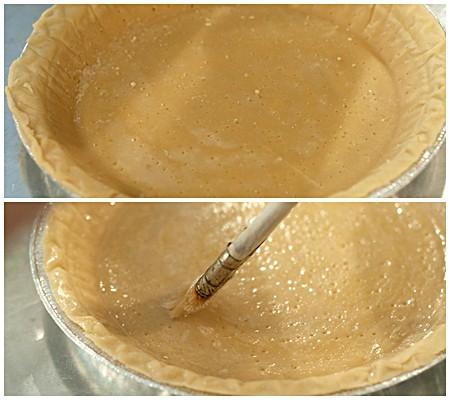 Prepping crust for Egg Custard Pie