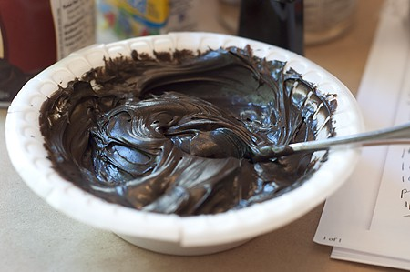 Black frosting for Halloween fun