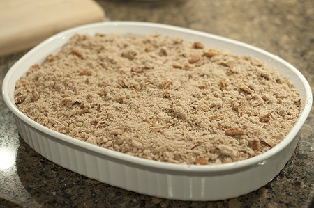 Assemble Gingerbread-Apple Cobbler
