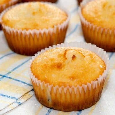 Lemon and Cherry Muffins - A lightly sweet muffin flavored with Meyer lemon and dried cherries great for snacks or for breakfast. From @NevrEnoughThyme https://www.lanascooking.com/lemon-and-cherry-muffins/