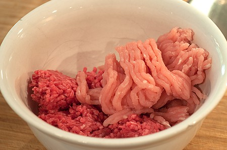 Ground beef and turkey for Sweet and Sour Meatballs