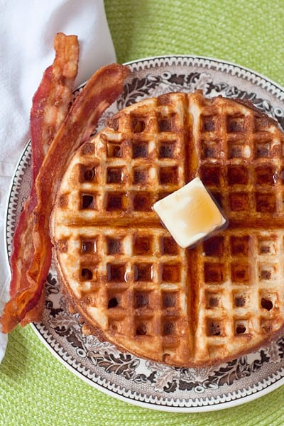 A classic recipe for Whole Wheat Waffles from @NevrEnoughThyme http://www.lanascooking.com/whole-wheat-waffles