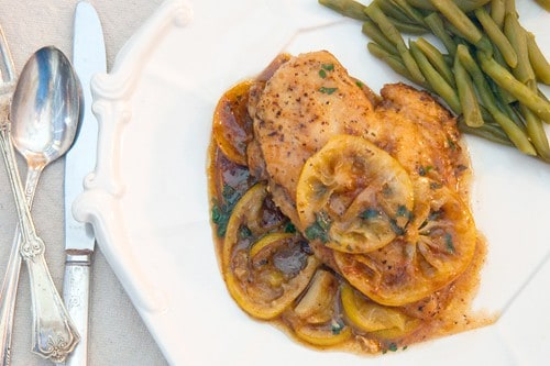 Meyer Lemon Chicken from Never Enough Thyme