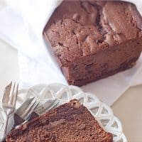 Chocolate Walnut Pound Cake - A rich, moist pound cake with walnuts and a double dose of chocolate. From @NevrEnoughThyme https://www.lanascooking.com/chocolate-walnut-pound-cake/