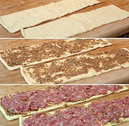 Sausage Swirl layers