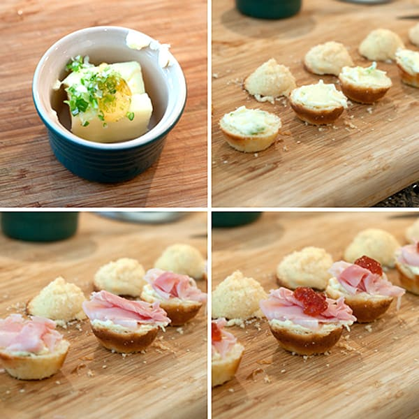 Ham and Cornbread Tea Sandwiches