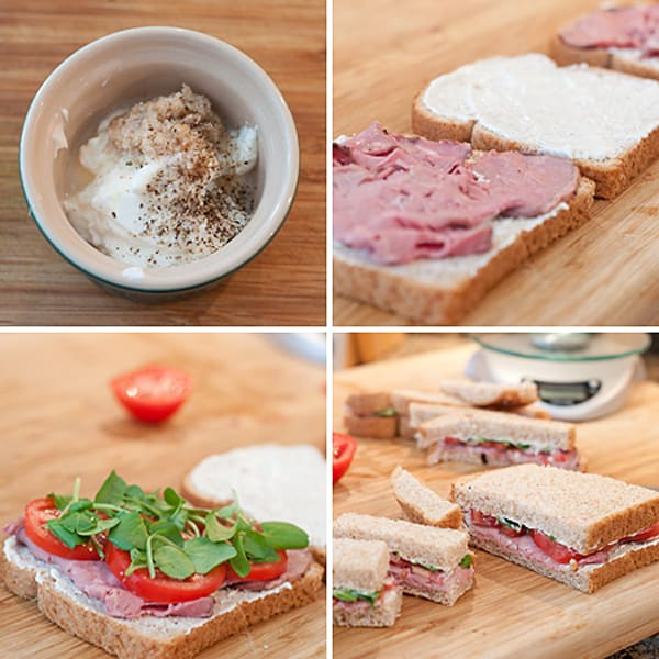 Roast Beef and Horseradish Tea Sandwiches