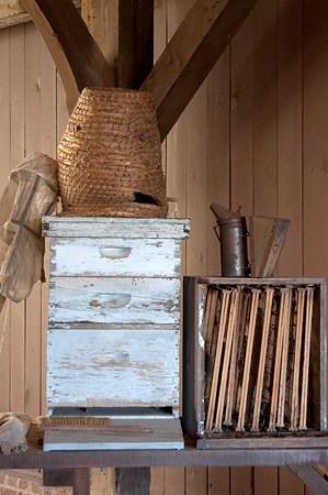 Bee keeping equipment at Biltmore